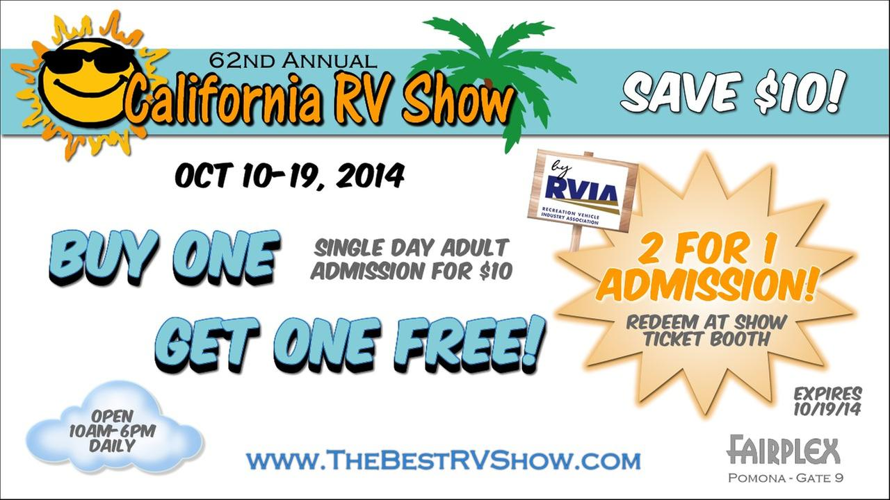 California RV Show Coupon