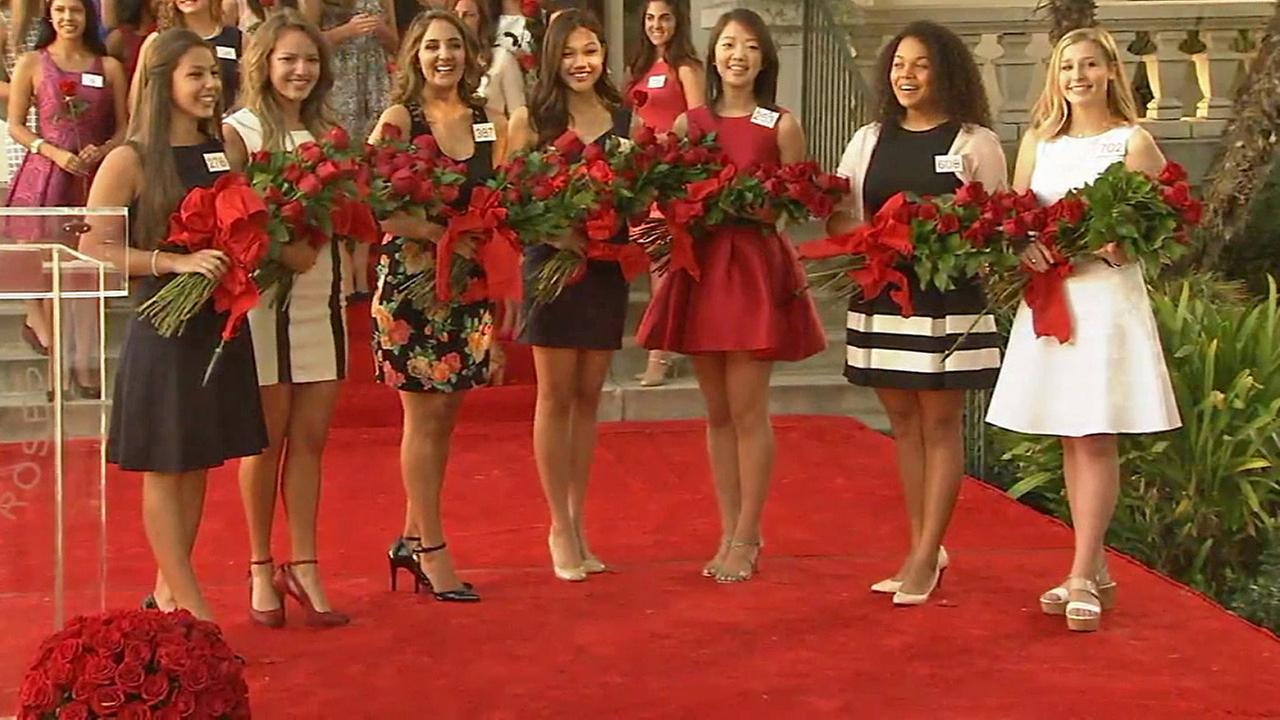 The members of the 2015 Tournament of Roses Royal Court are seen outside the Tournament of Roses house in Pasadena on Monday, Oct. 6, 2014.