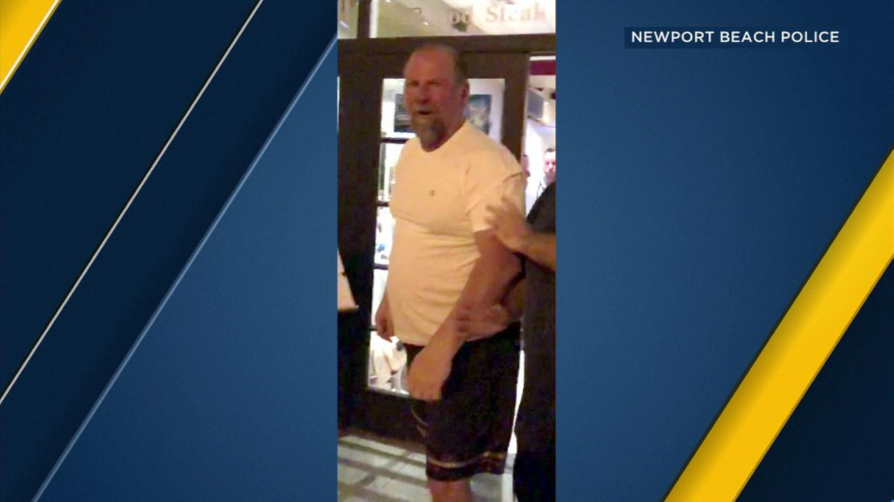 Newport Beach police are looking for a suspect in a battery investigation.