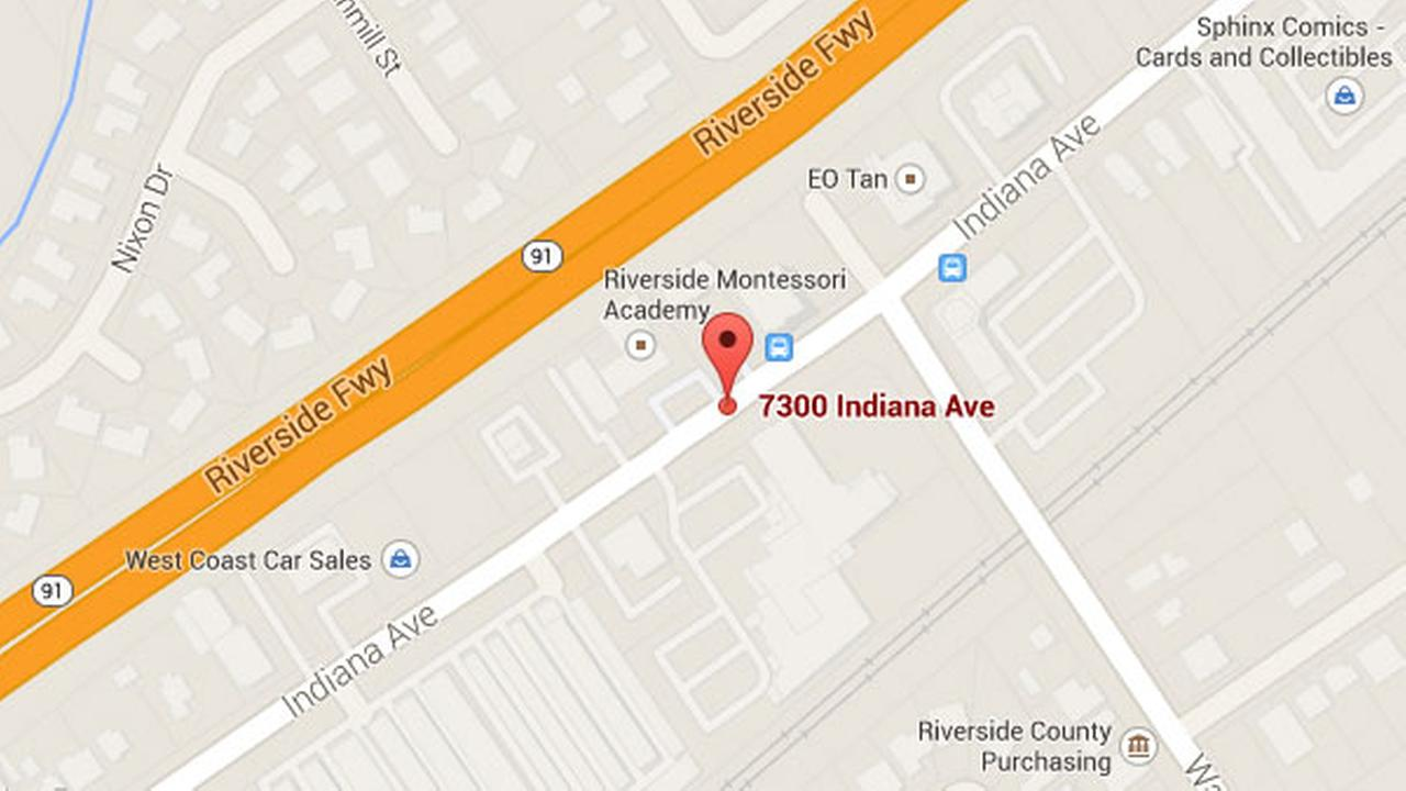 A pedestrian was hospitalized in grave condition after being struck in traffic on the 7300 block of Indiana Ave. in Riverside Monday, Oct. 6, 2014.