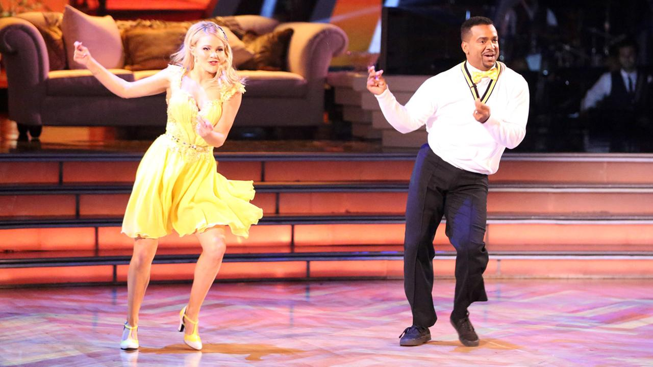 Alfonso Ribeiro and Witney Carson do the Carlton dance on Dancing With The Stars week 4 on Monday, Oct. 6, 2014.