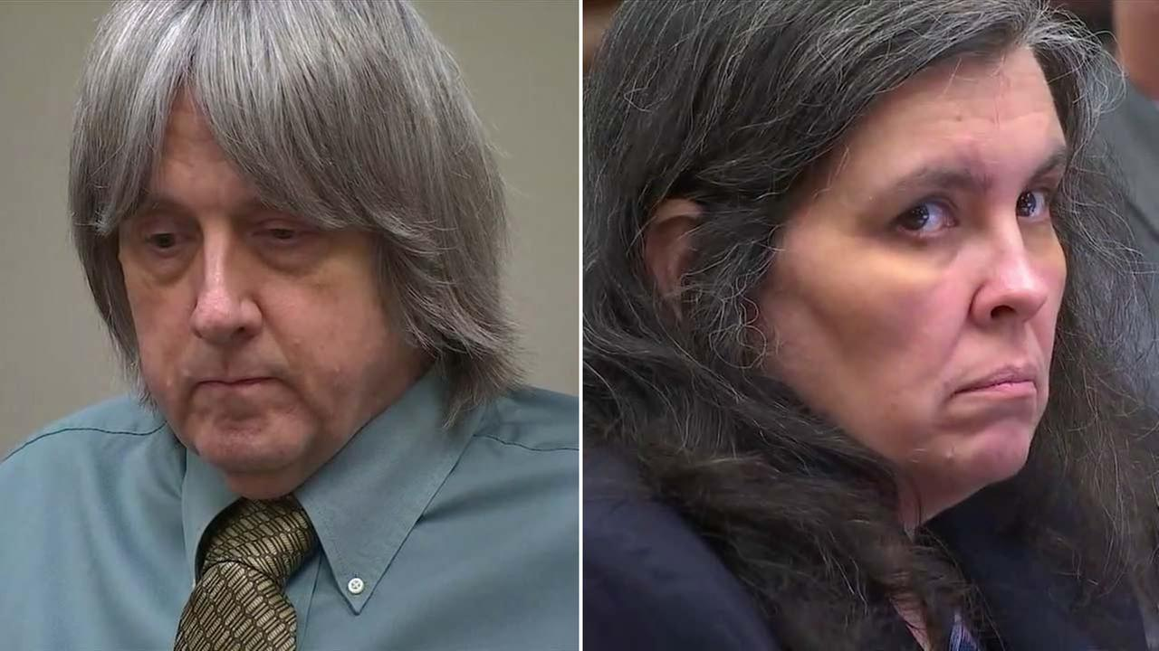 David and Louise Turpin of Perris are pictured in a courtroom on Friday, May 4, 20189.