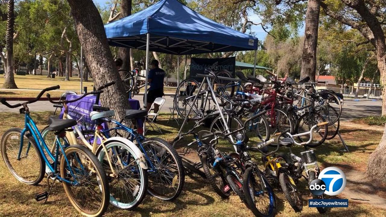 As part of Long Beachs Bike Month activities, Long Beach residents brought their unused bikes to give to better homes.