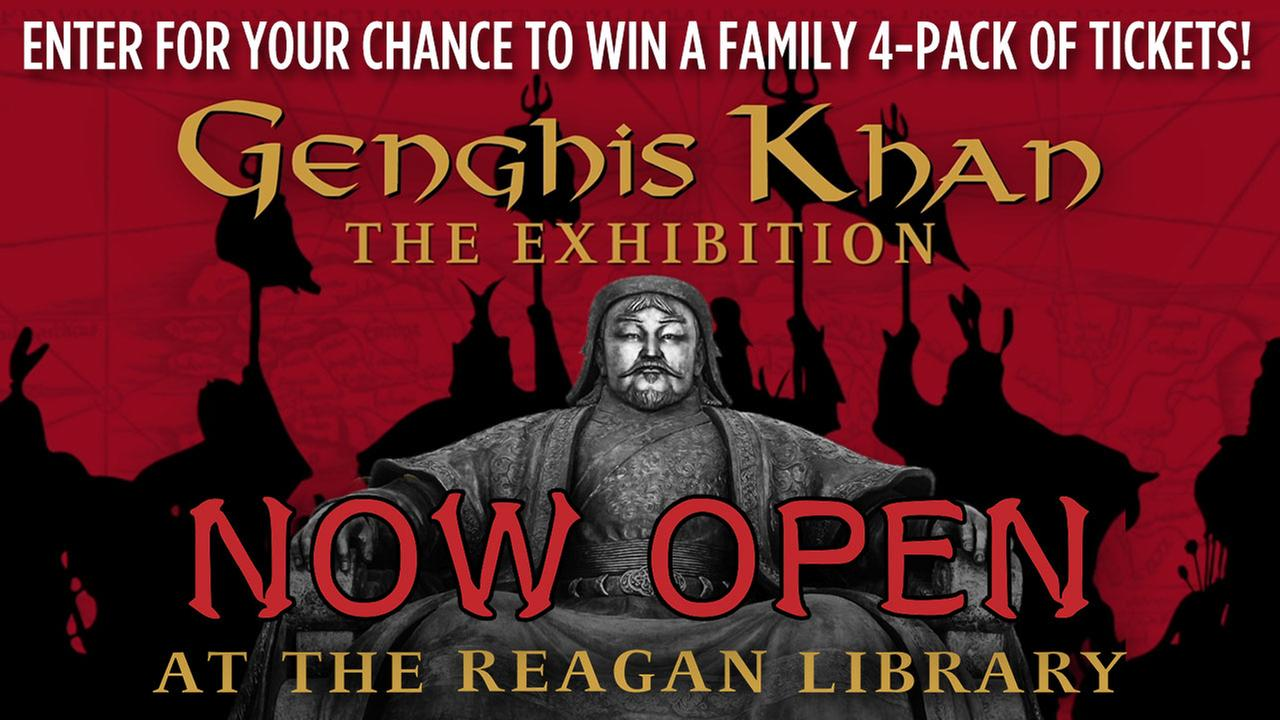 Enter for a chance to win tickets to see Genghis Khan: The Exhibition at The Ronald Reagan Library!