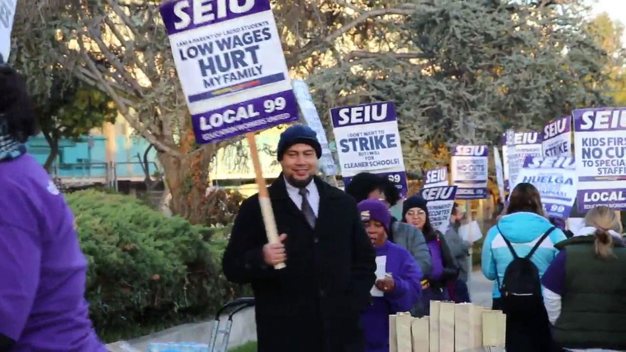 SEIU Local 99 members with LAUSD had been planning a one-day strike before reaching a new contract deal with the administration.