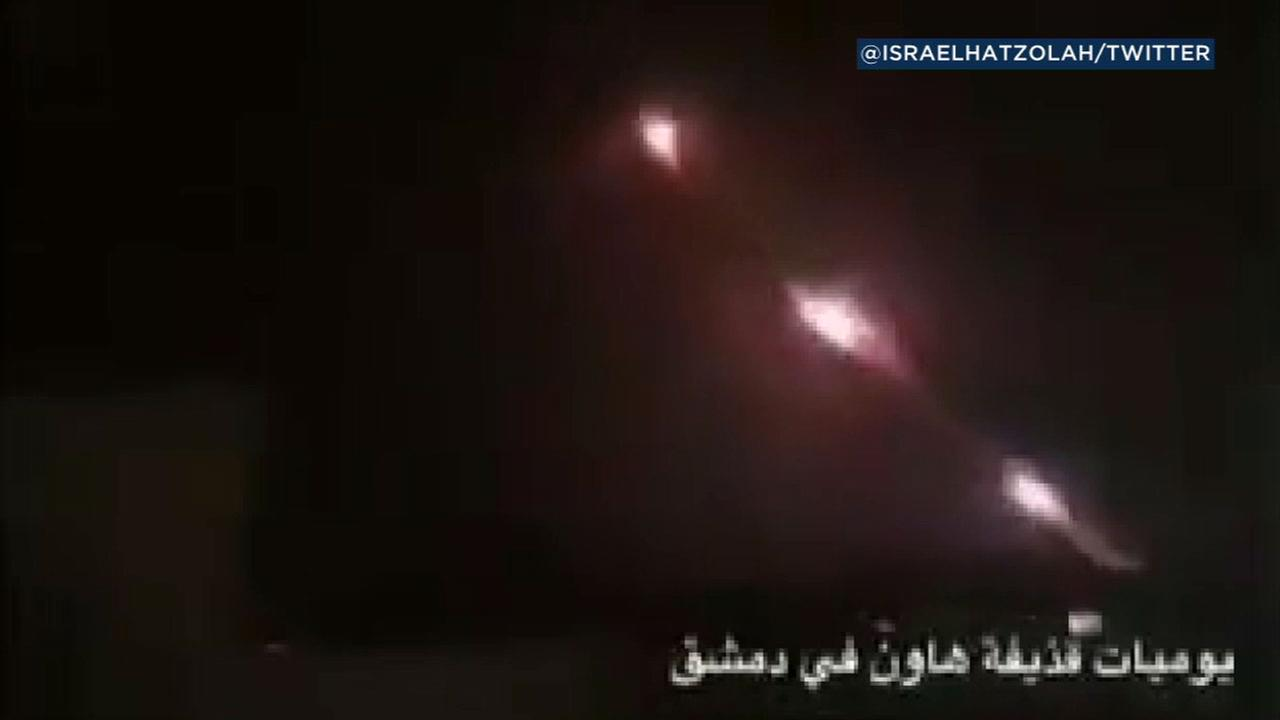 Iranian forces based in Syria fired 20 rockets at Israeli front-line military positions in the Golan Heights early Thursday, the Israeli military said.