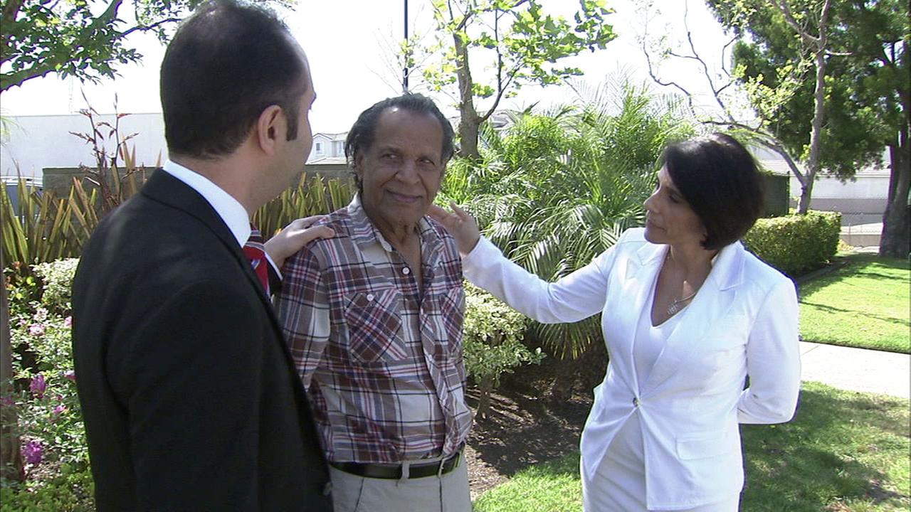 Two kindhearted Angelinos talk with 77-year-old Parvis Sistani, who they are helping get back on his feet.