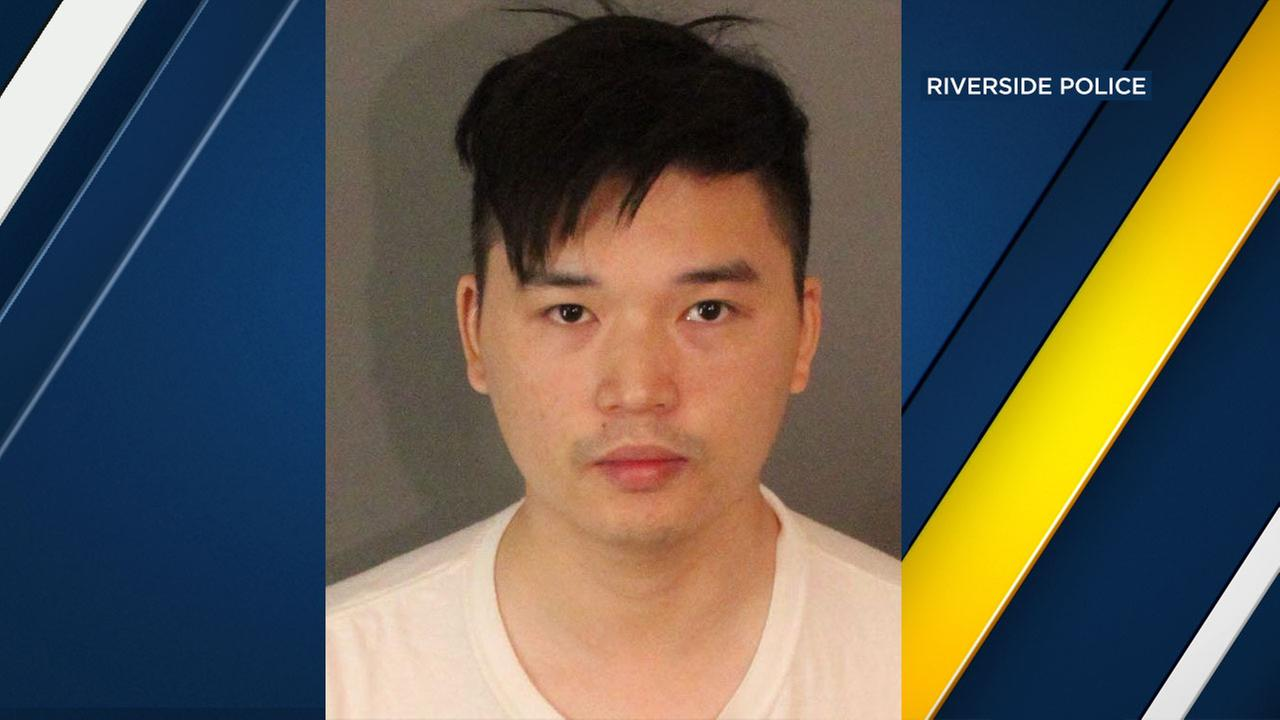 Jinhong Duan, 27, of Riverside, was arrested Wednesday in connection with a sexual assault that allegedly occurred on campus, officials said.