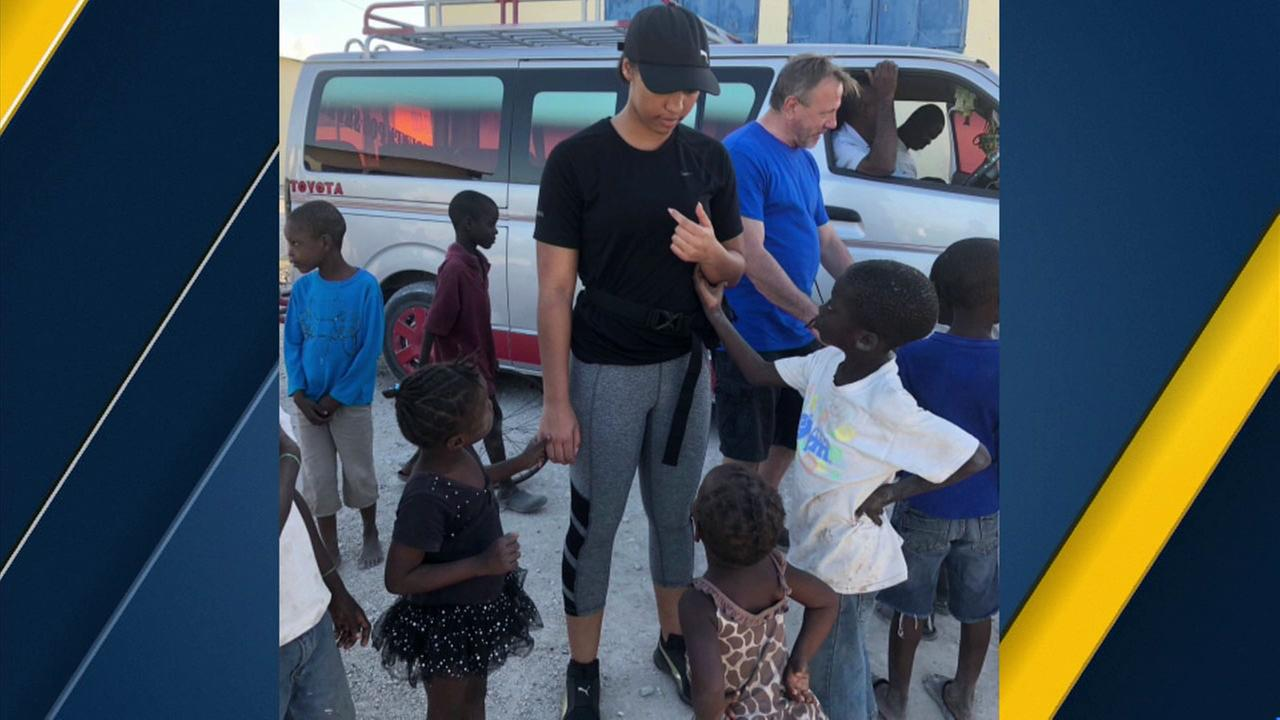 Bishop Alemany High School student Kesia Lavelle brought soccer balls to Haiti to bring joy to children in the impoverished nation.