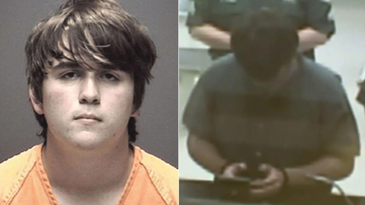 Dimitrios Pagourtzis, 17, appears in court just hours after allegedly opening fire at Santa Fe High School in Texas on Friday, May 18, 2018.