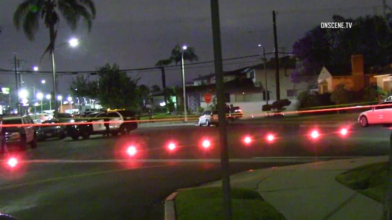 A homicide investigation was underway after two men and a woman were found dead Tuesday evening at a home in Leimert Park, authorities said.
