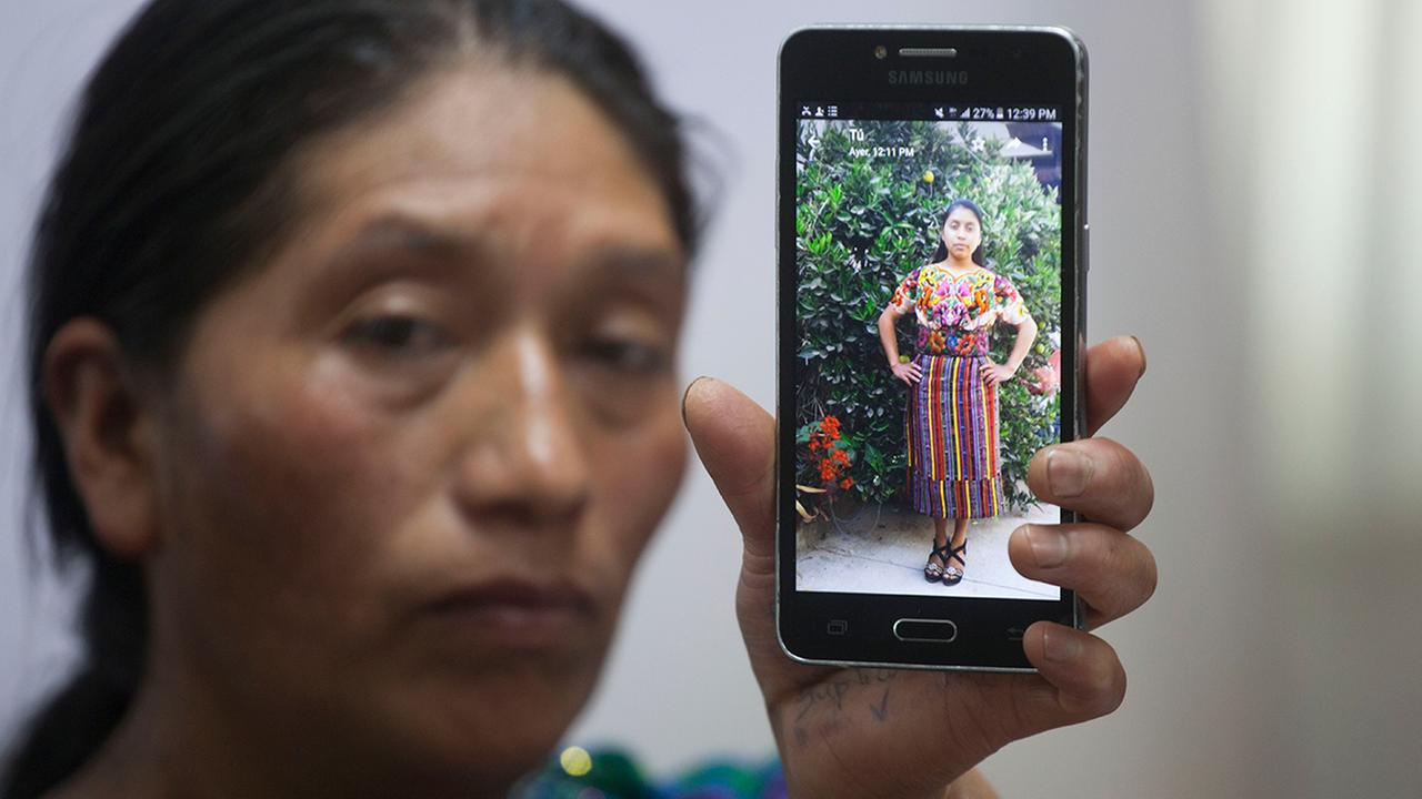 Dominga Vicente shows a photo of her niece, 19-year-old Claudia Patricia Gomez Gonzalez, who was allegedly killed by an agent of the U.S. Border Patrol in Nuevo Laredo, Texas.