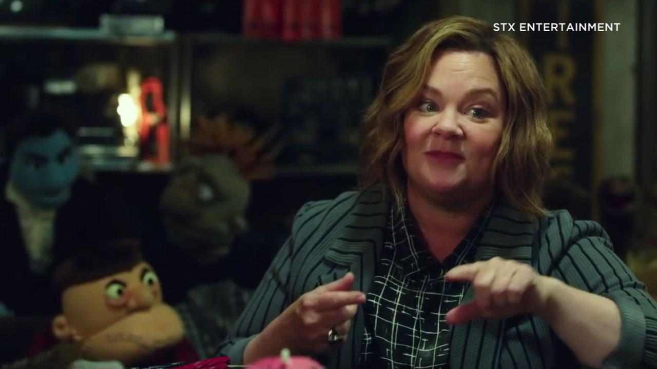 Melissa McCarthy is shown in a scene from her new movie The Happytime Murders, which features puppets.