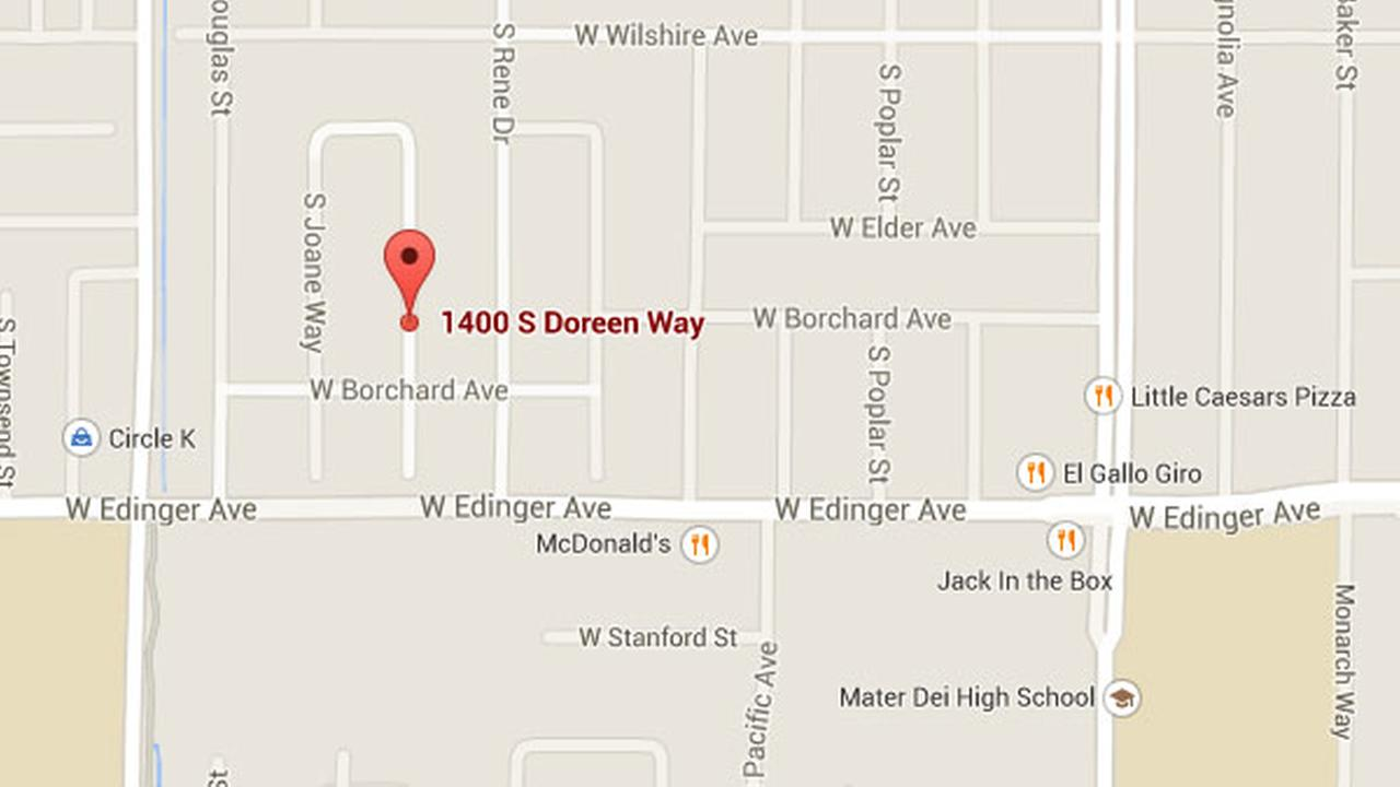 Sepulveda Elementary and Mater Dei High schools were locked down for about two hours due to a shooting on the 1400 block of South Doreen Way in Santa Ana, Oct. 16, 2014.