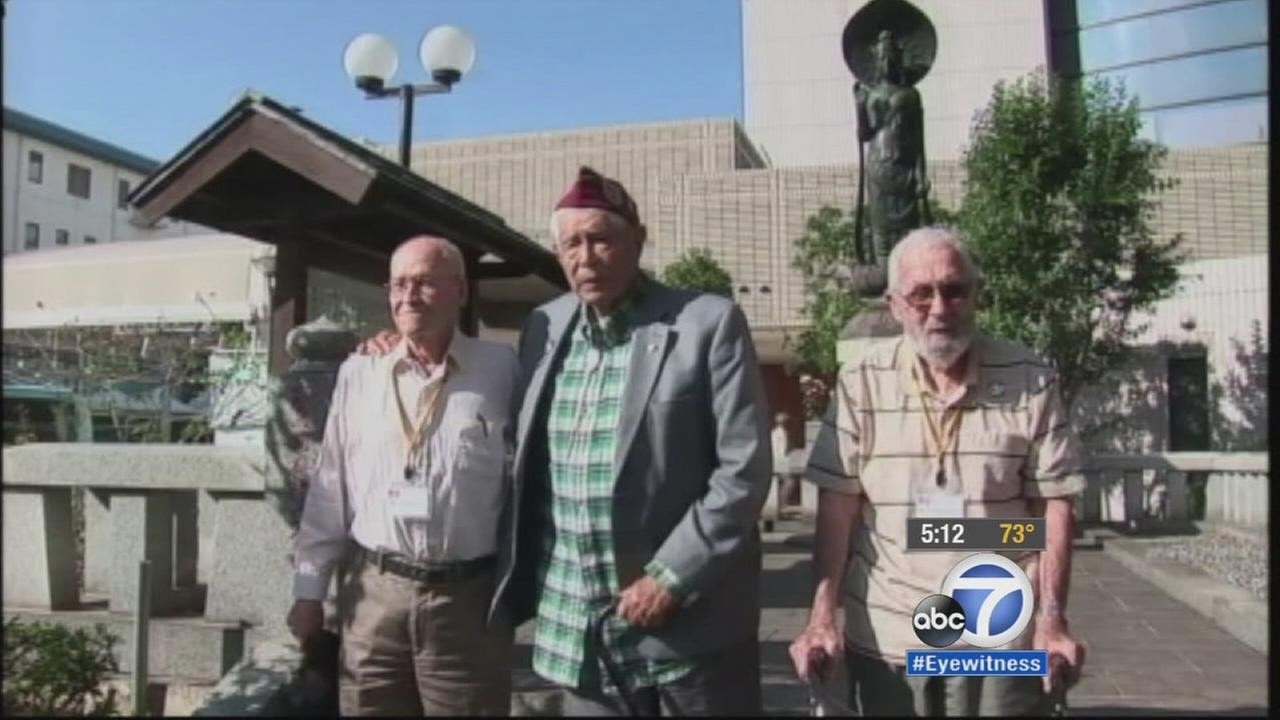 Its been nearly 70 years since a Monterey Park man was held in a Japanese prison camp in World War II. On Thursday, he visited his former camp with two other POWs.