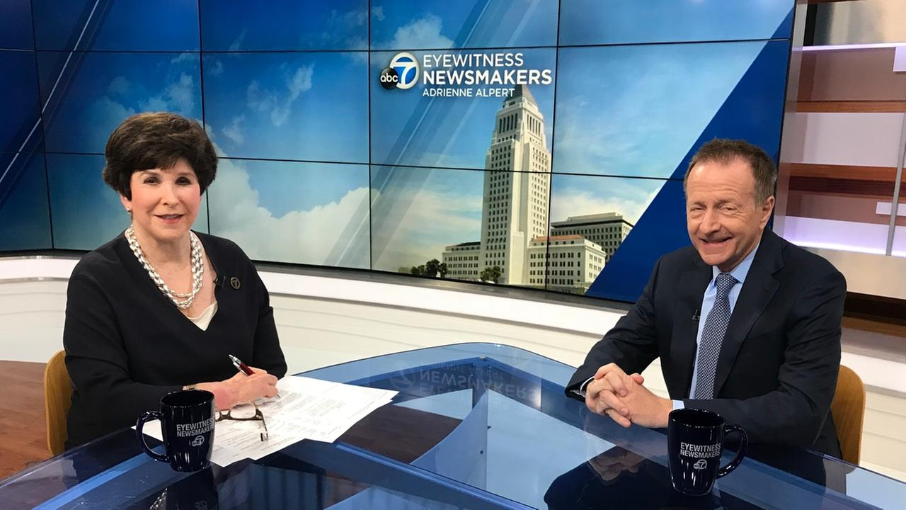 Eyewitness Newsmakers host Adrienne Alpert speaks to LAUSD Superintendent Austin Beutner.