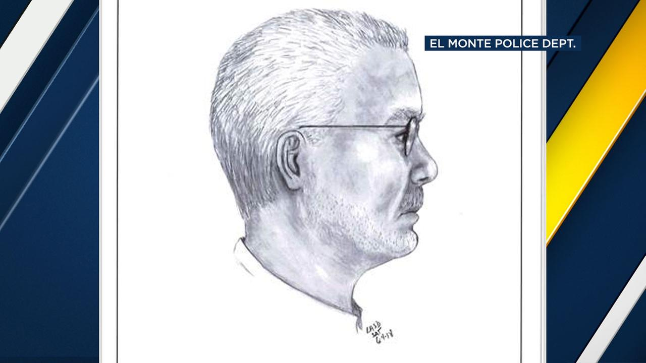 El Monte police released this sketch of a man they say attempted to kidnap two young girls over the weekend.