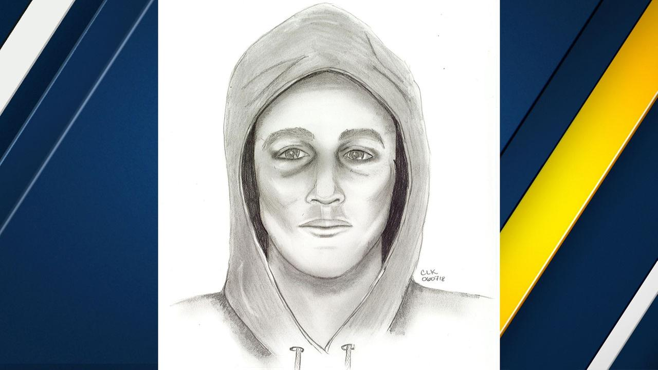 A sexual assault suspect is shown in a composite sketch provided by the Riverside Police Department.