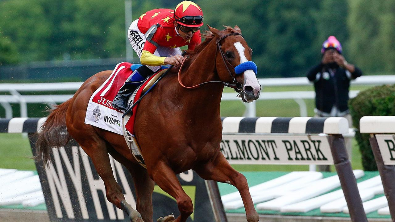 Justify became the 13th horse in history to win the Kentucky Derby, Preakness Stakes and the Belmont Stakes.