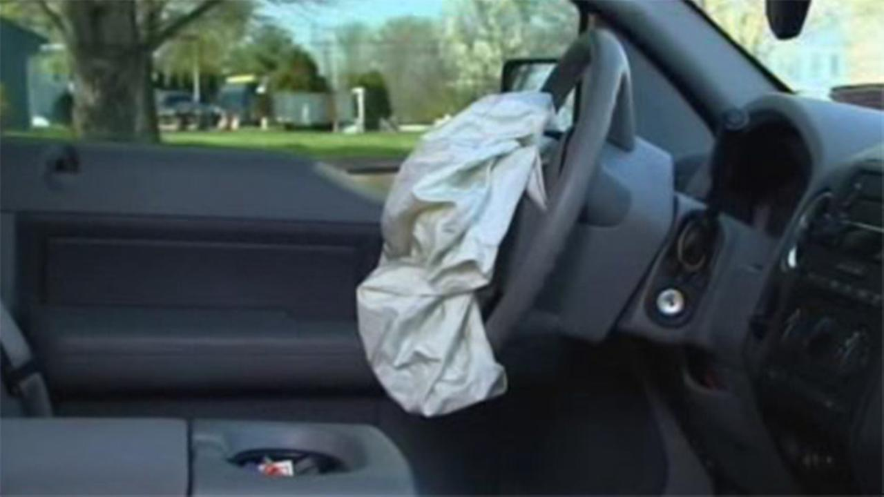 A deployed air bag is seen in this undated file photo.