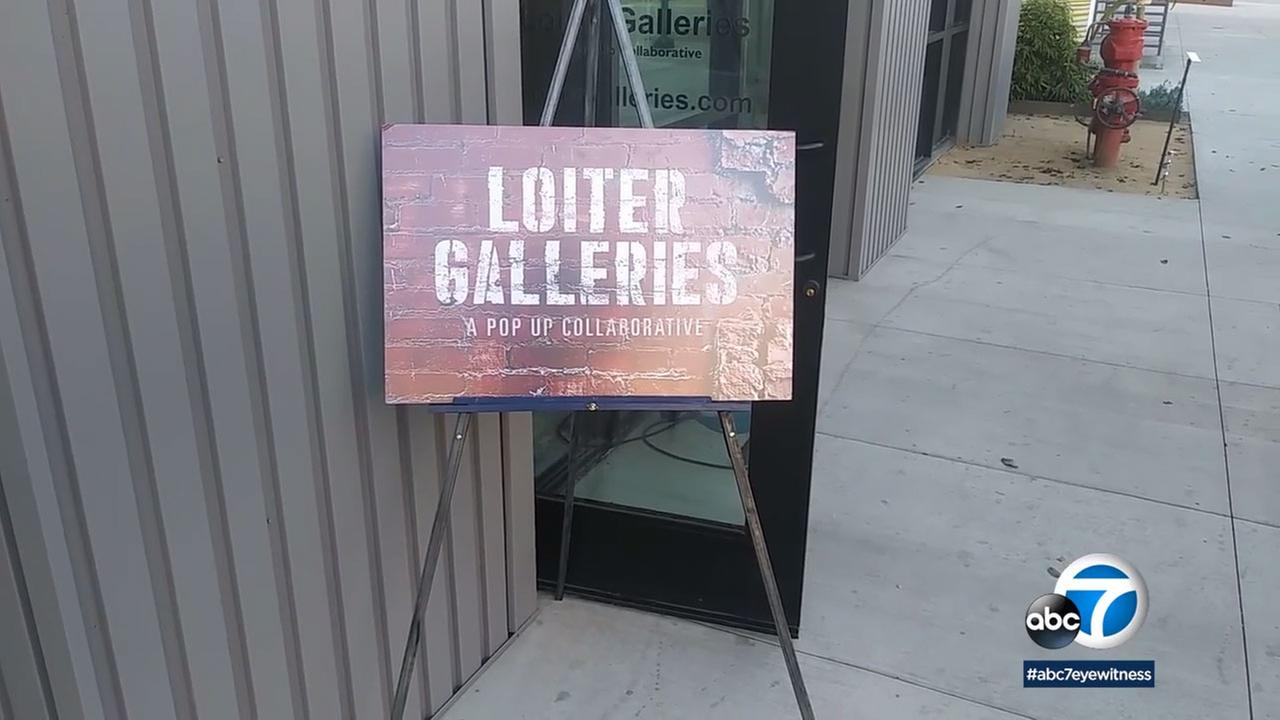 Loiter Galleries, which transforms vacant spaces into temporary art exhibitions, has popped up in Long Beach.