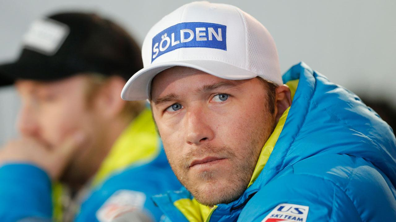 USA mens ski team member Bode Miller participates in a news conference, on the first day of the World Cup Ski Championships, on Monday, Feb. 2, 2015, in Beaver Creek, Colo.