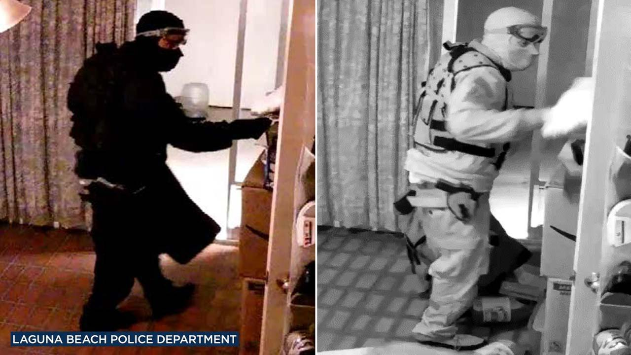 Laguna police released these two images of one of the suspects involved in an armed home-invasion robbery in Laguna Beach on Monday, June 11, 2018.
