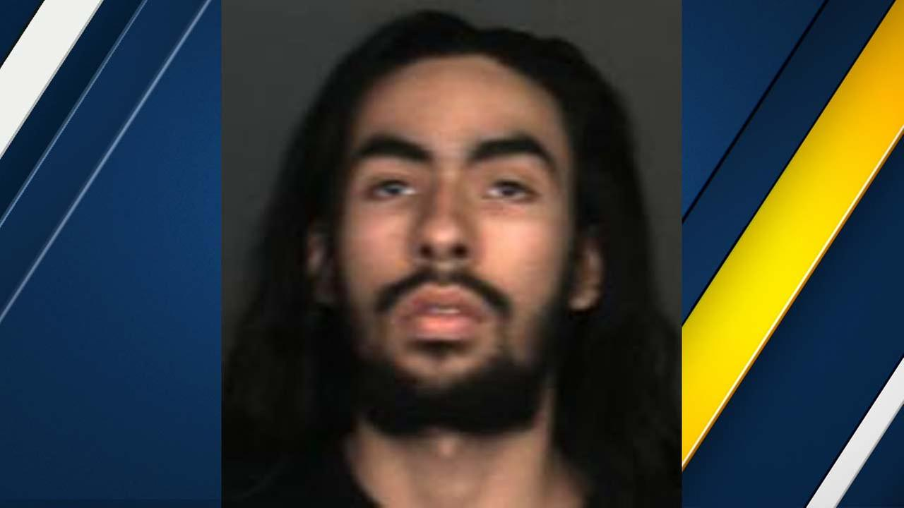 Sergio Orozco, 19, of Fontana is seen in a booking photo released by the Fontana Police Department.