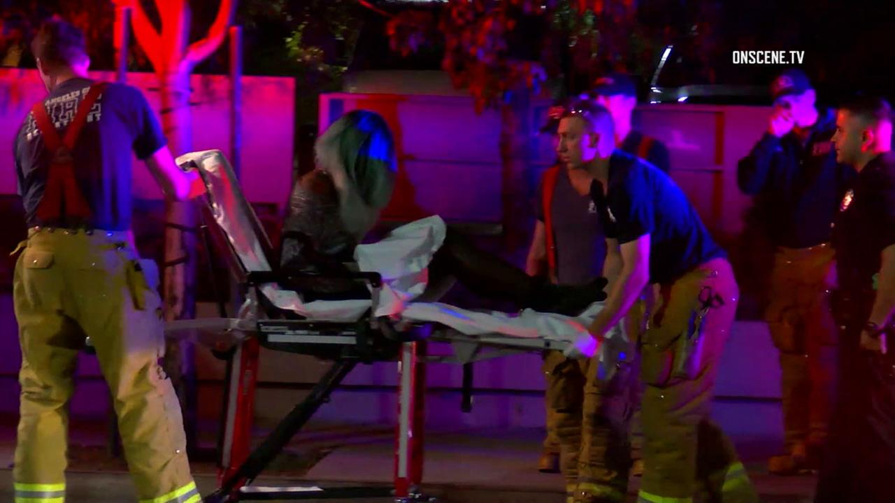 A trans woman injured in a stabbing in Hollywood early Thursday, June 14, 2018.