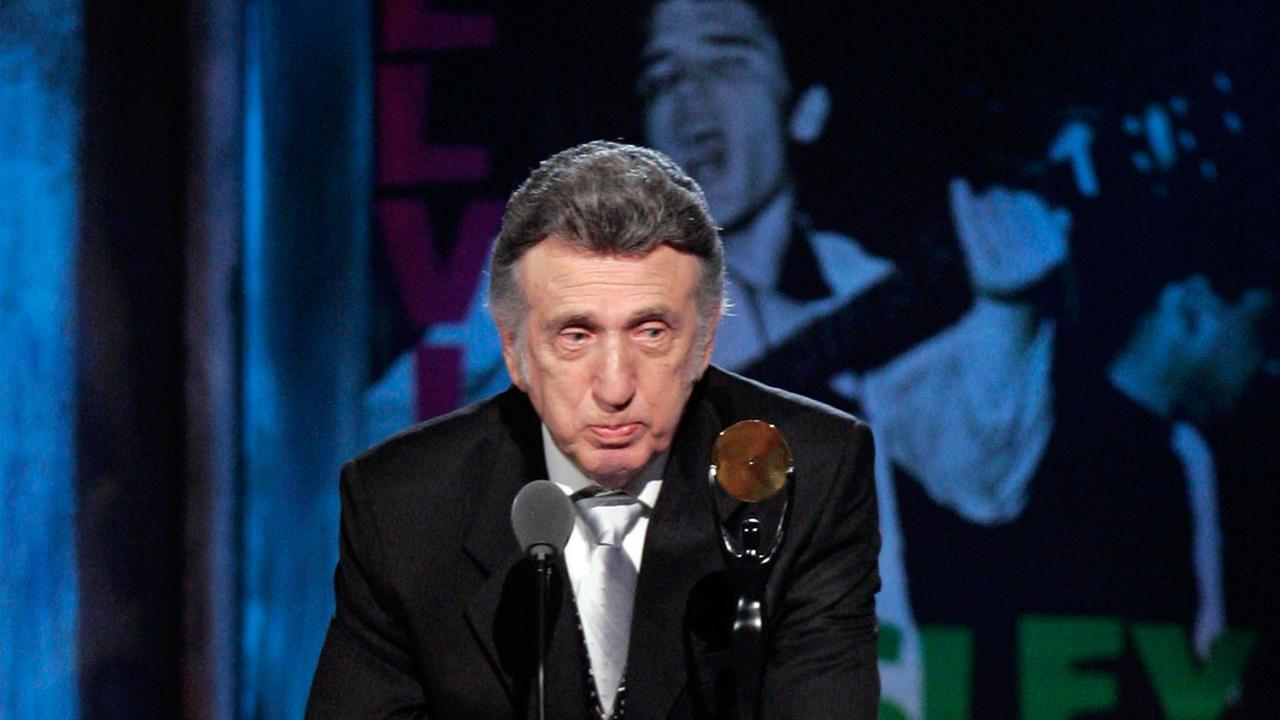 D.J. Fontana speaks after being inducted into the Rock and Roll Hall of Fame at the 2009 Rock and Roll Hall of Fame Induction Ceremony Saturday, April 4, 2009.