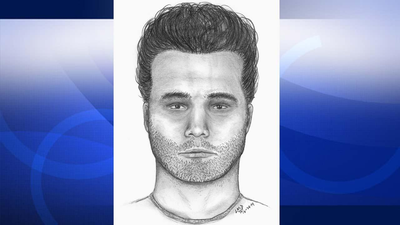 The UCLA Police Department released this sketch of a man who showed a gun to a female student in the 400 block of Landfair Avenue on Friday, Oct. 17, 2014.