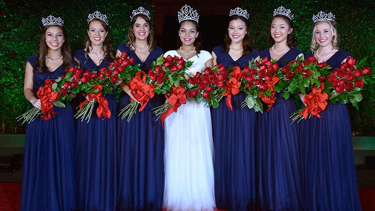 The Rose Queen and Royal Court, Oct. 21, 2014.
