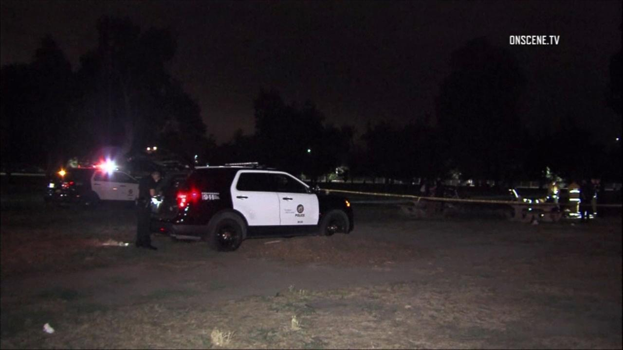 Police are investigating a fatal stabbing at a North Hollywood park.
