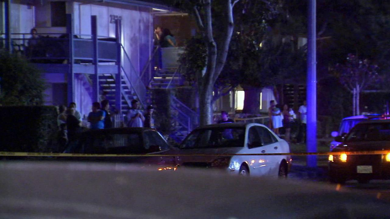 A young girl was fatally shot on the 2300 block of West Greenacre Avenue in Anaheim at 7:15 p.m. Wednesday.