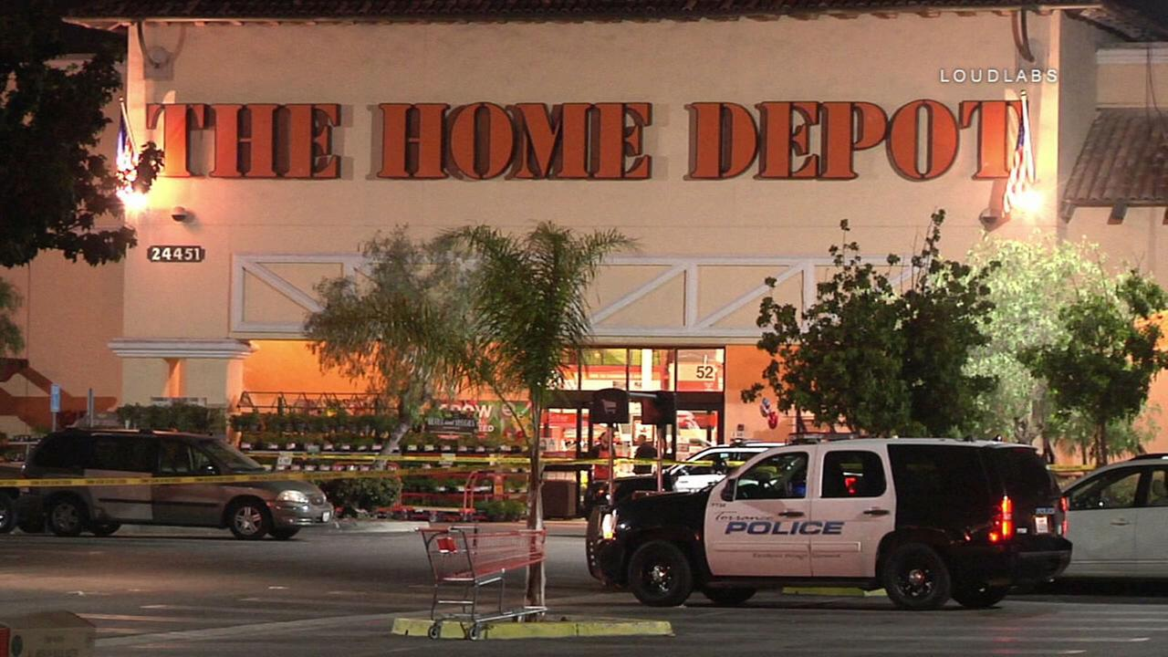 A Torrance Home Depot parking lot where a shooting left a man dead on Tuesday, June 19, 2018.