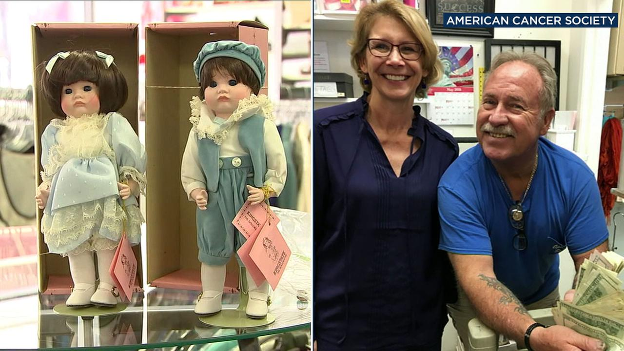 After donating his mothers collection of porcelain dolls to a thrift store in Santa Monica, Ray Rhinehart discovered $36,000 had been left behind in one of the donated boxes.