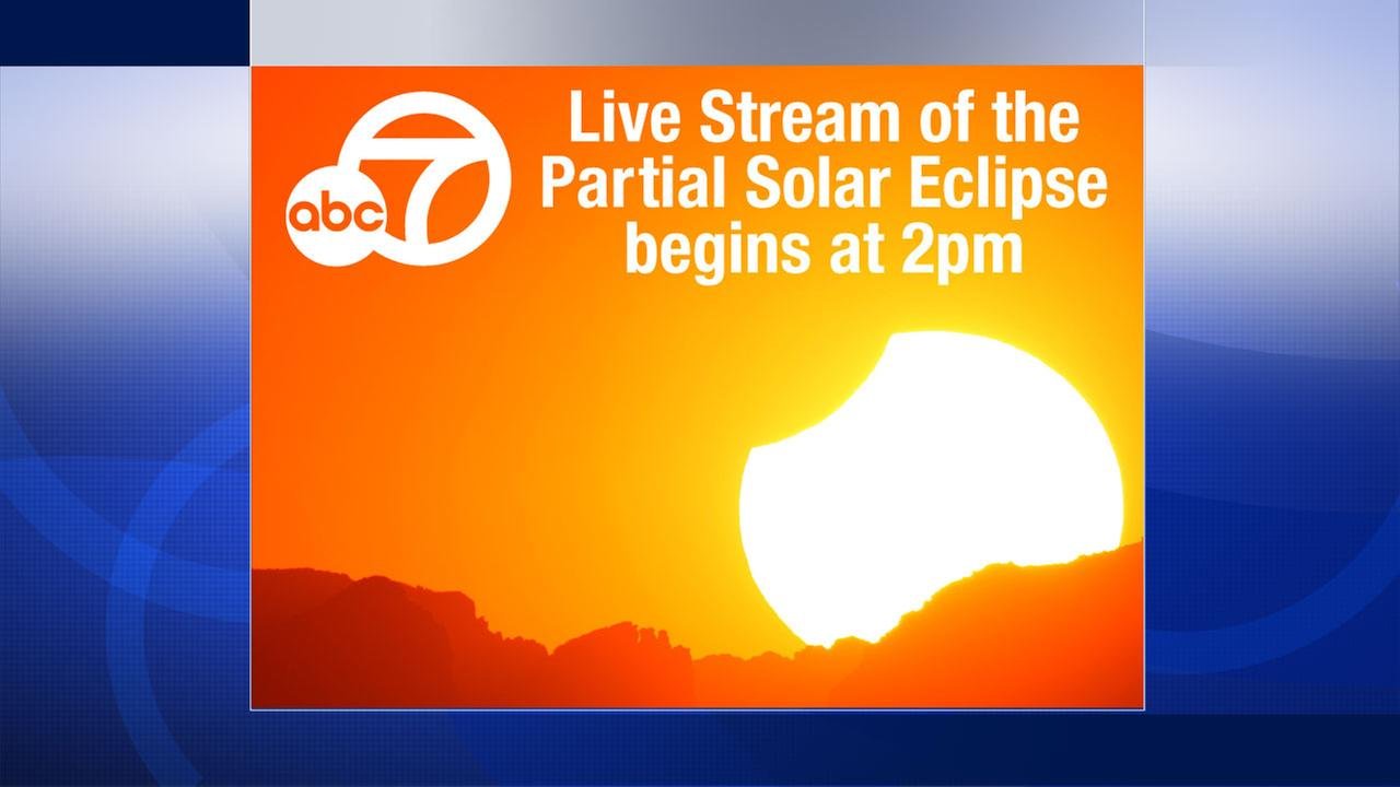 Watch solar eclipse live: Begins at 2:07