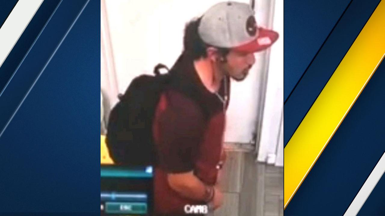 Authorities released surveillance photos of a man suspected of exposing himself to an employee at a nail salon in La Mirada on June 5.