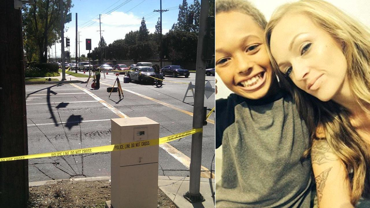 (L) Police tape blocks the area where an 11-year-old boy was struck by a hit-and-run driver on Oct. 23, 2014. (R) Isaiah Shelton-Dobine is seen in this photo from family.