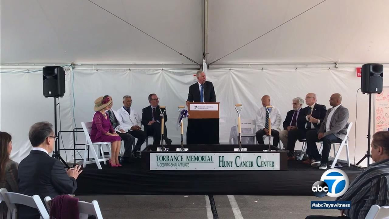 Officials at the Torrance Memorial Medical Center have broken ground on the new Hunt Cancer Center.