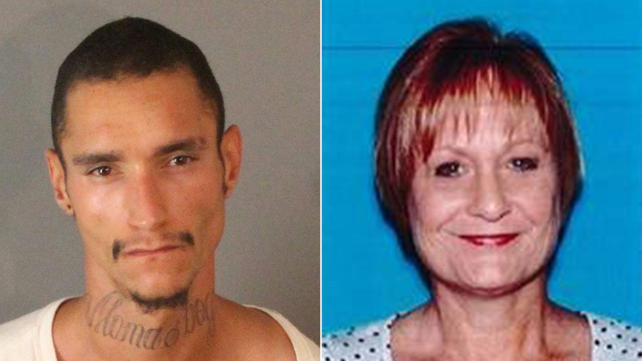 Aaron Aubrey (left), 24, was arrested in the death of 51-year-old Mica Maddock (right), who was reported missing Wednesday.