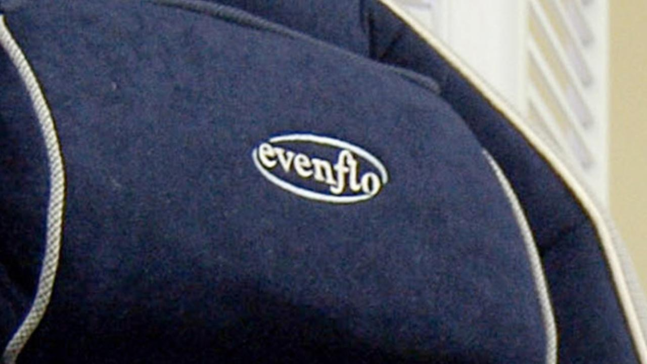 A logo for Evenflo Co. is seen in this undated file photo.