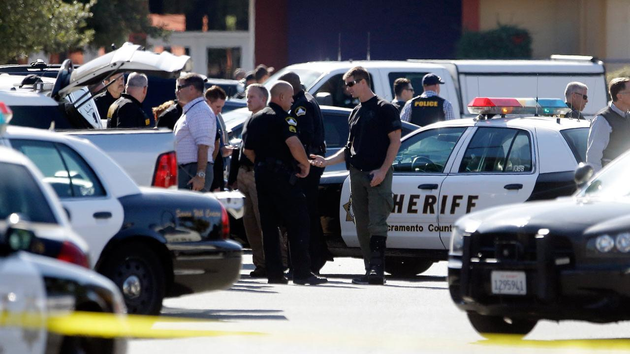 A Sacramento County Sheriffs deputy was shot by an assailant who then carjacked two vehicles prompting a manhunt in Sacramento.