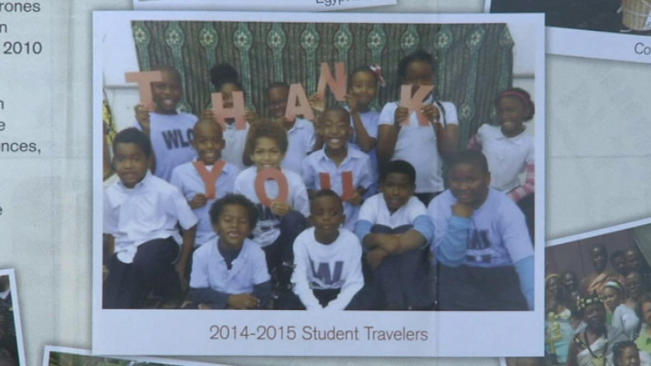 The Watts Learning Center student travelers for the 2014-2015 school year pose in an undated file photo.