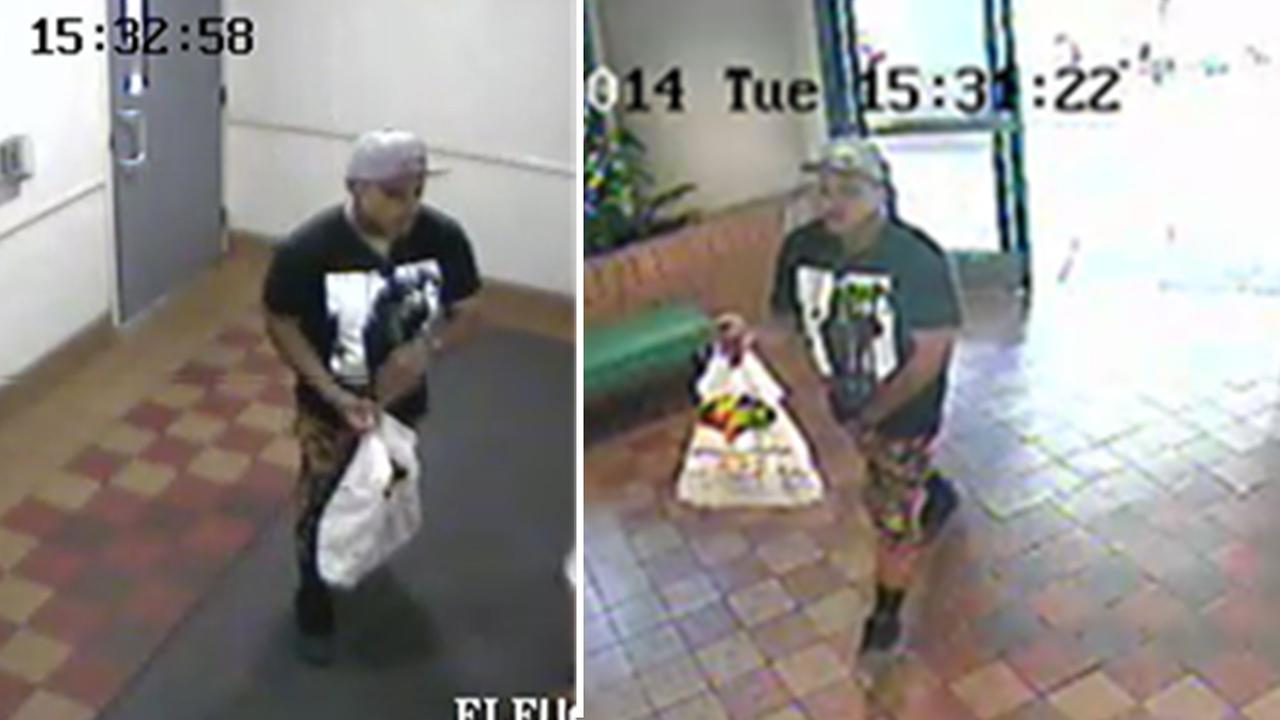 A man suspected of terrorizing an 88-year-old man in Hollywood is shown on surveillance video.
