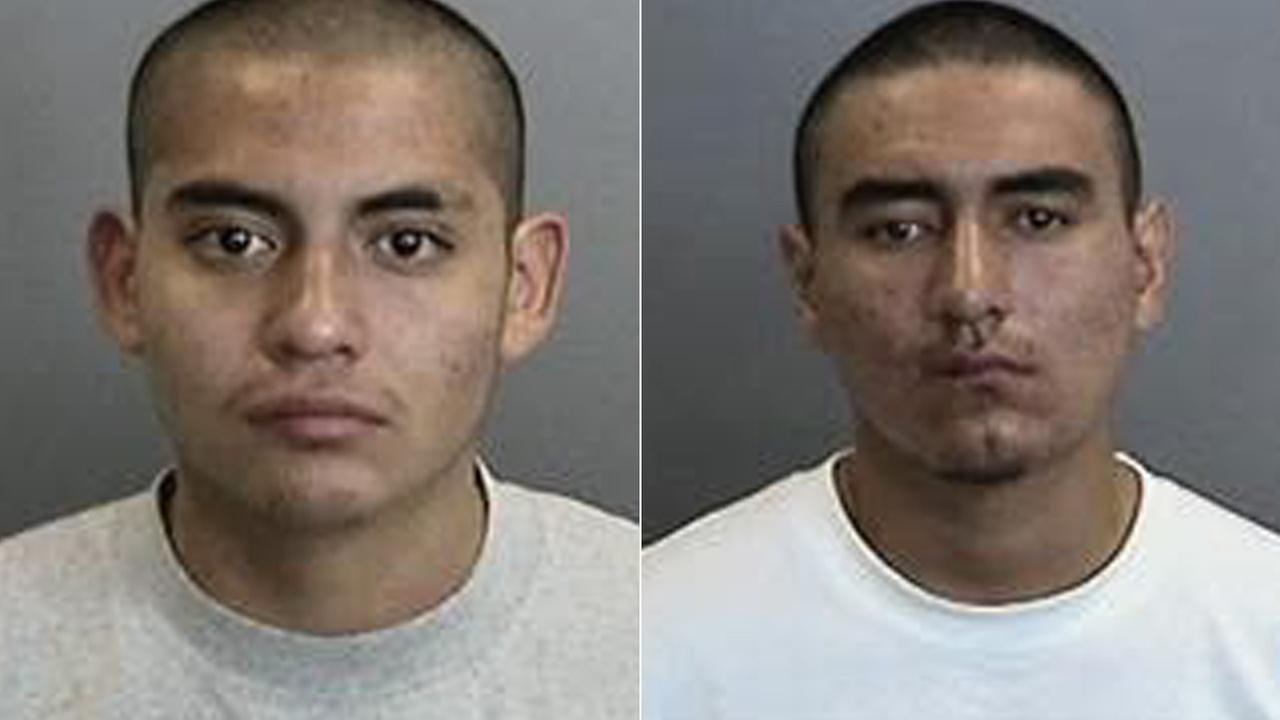 Alfredo Aquino (left) and Ricardo Cruz (right) are seen in these booking photos Friday, Oct. 24, 2014.