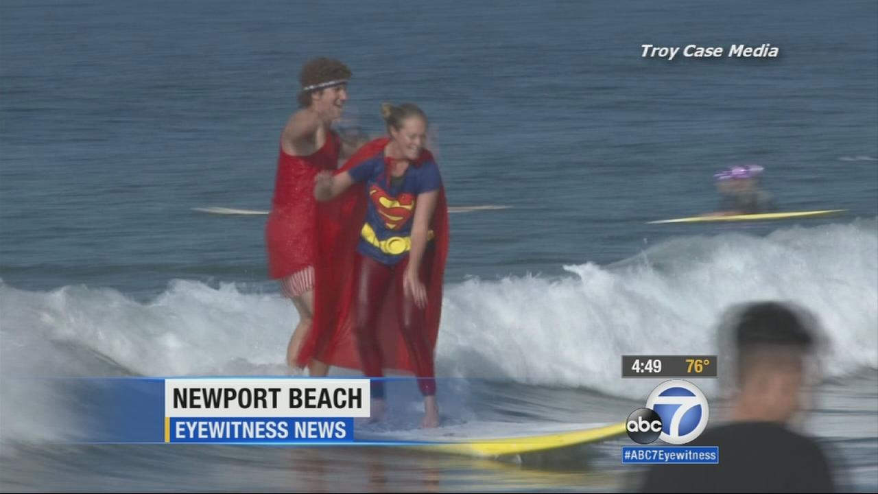 It was a fun day of surf, sun and Halloween costumes at Blackies By the Sea in Newport Beach Saturday, Oct. 25, 2014.