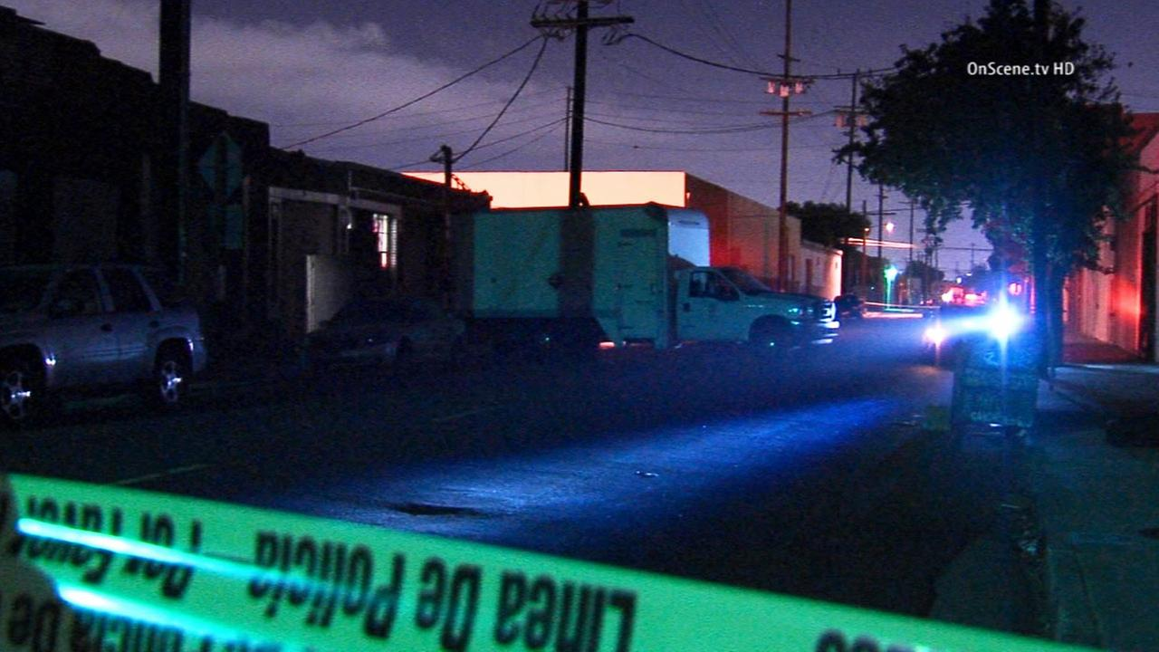 Crime scene tape ropes off the scene of a marijuana bust in the 1500 block of Paloma Street in downtown Los Angeles on Thursday, Oct. 30, 2014.