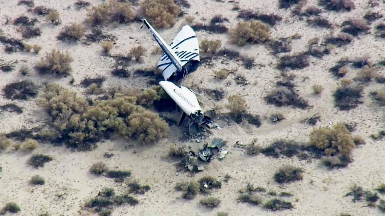 Virgin Galactics SpaceShip Two space tourism rocket was involved in an accident in the Mojave Desert on Friday, Oct. 31, 2014.
