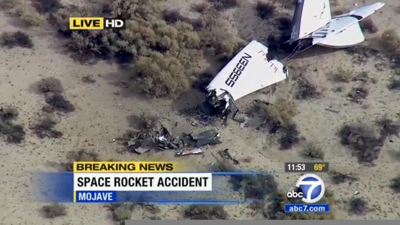 Virgin Galactics SpaceShip Two space tourism rocket crashed in the Mojave Desert on Friday, Oct. 31, 2014.